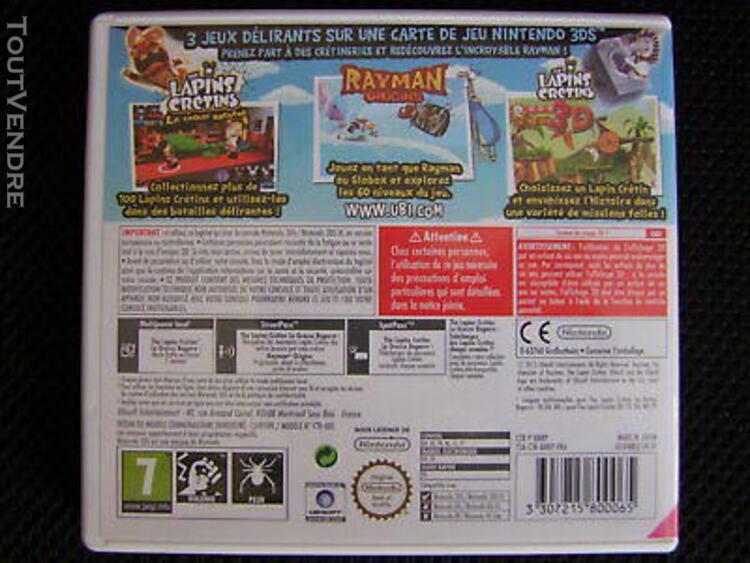 Jeux nintendo 3ds rayman et les lapins cretins pack famille