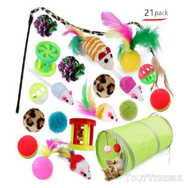 21 pcs / set jouets variété pack chats drôle souris