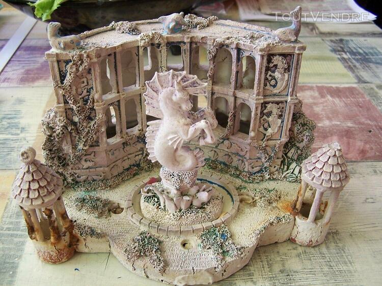 décor temple, décor cheval pour aquarium dimensions l 20 x
