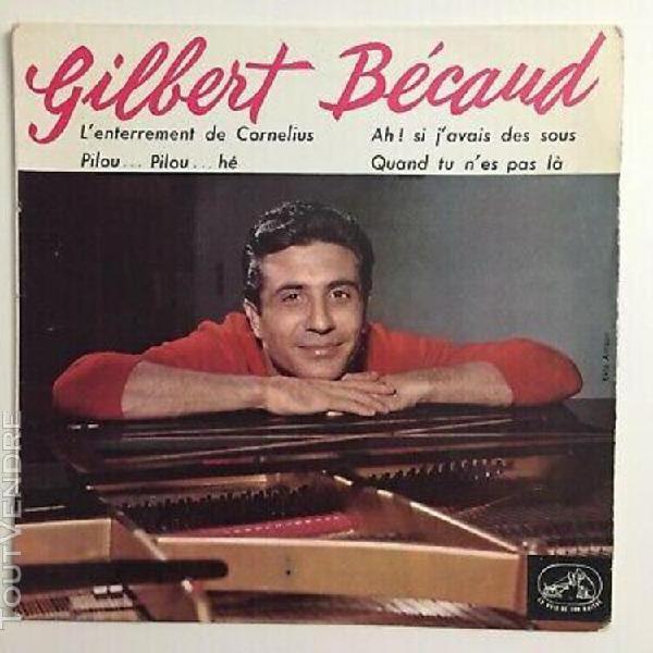 Gilbert bécaud – l'enterrement de cornelius - 45t 07''