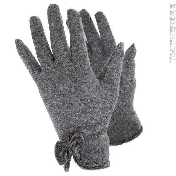 Handy - gants en laine pour femme (gris) - utgl590