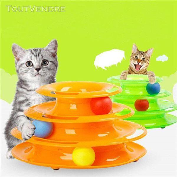 jeux labyrinthe balle jouet 3 couches plastique pour chat ch