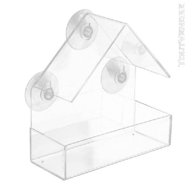 mangeoire amovible en forme d'oiseau en plastique avec v