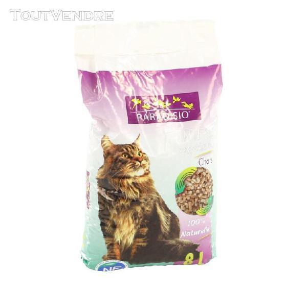 paradisio - litière végétale pour chat - 8l