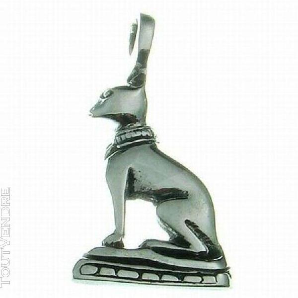 Pendentif chat égyptien - chat bastet en argent neuf!!!