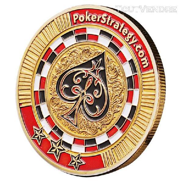 Pièces de monnaie commémoratives jetons poker jeu casino