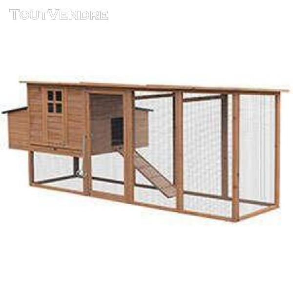 poulailler en bois avec enclos cottage xl - oogarden