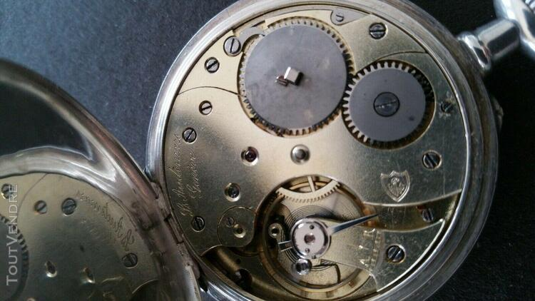 Superbe montre signee louis audemars en argent