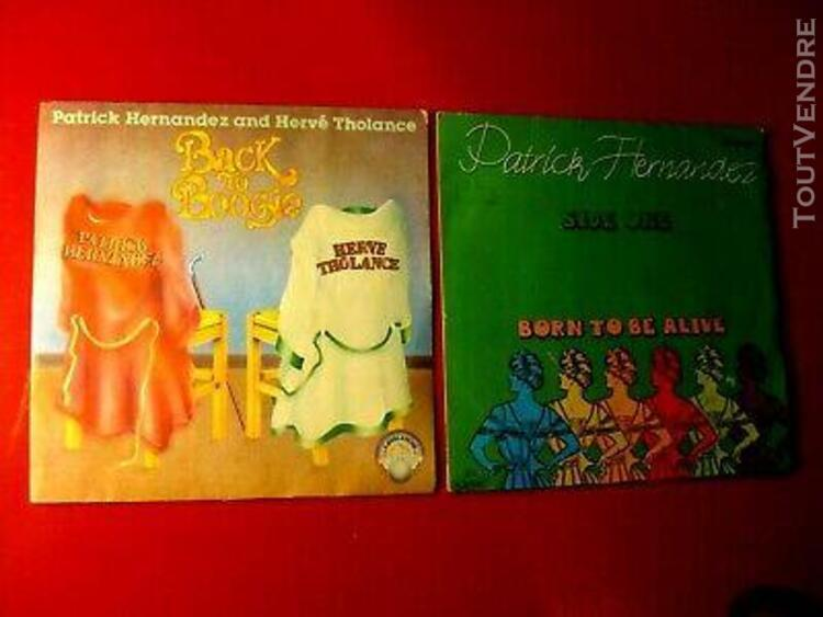 2 disques patrick hernandez born to be alive 2