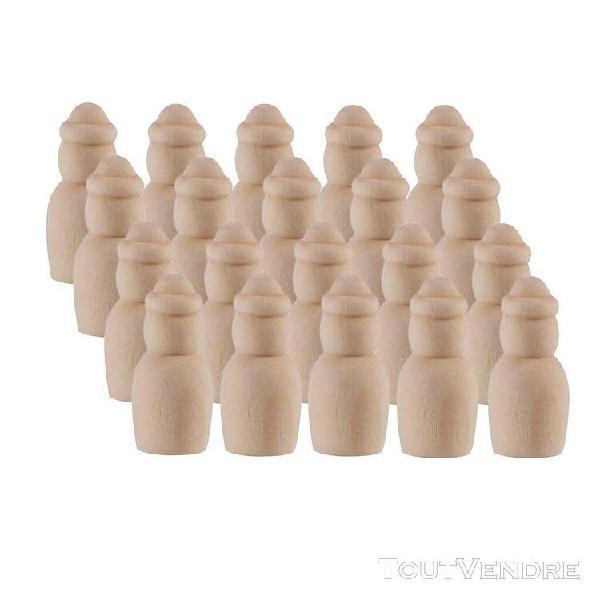 20pcs poupée en bois doll peg peintes à la main personnes