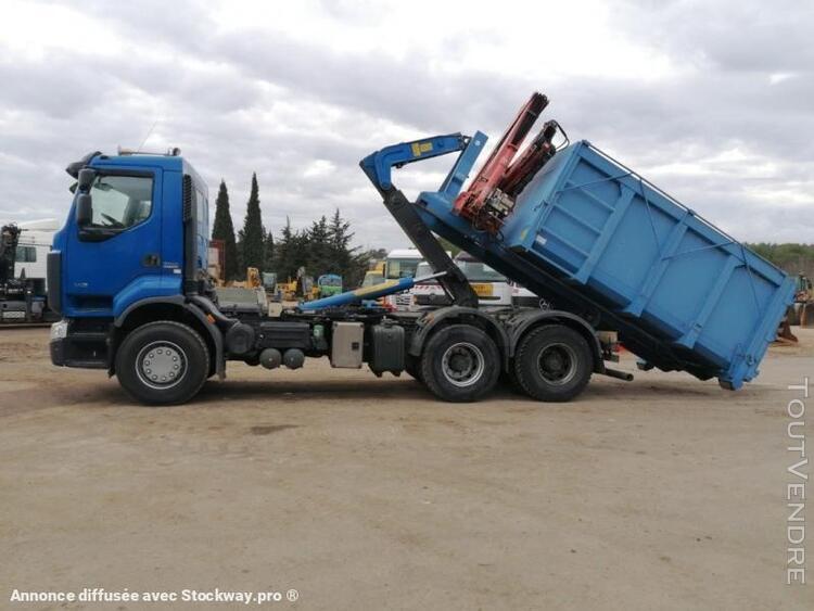 camion (ptac > 3,5 t) benne amovible (à bras) - renault