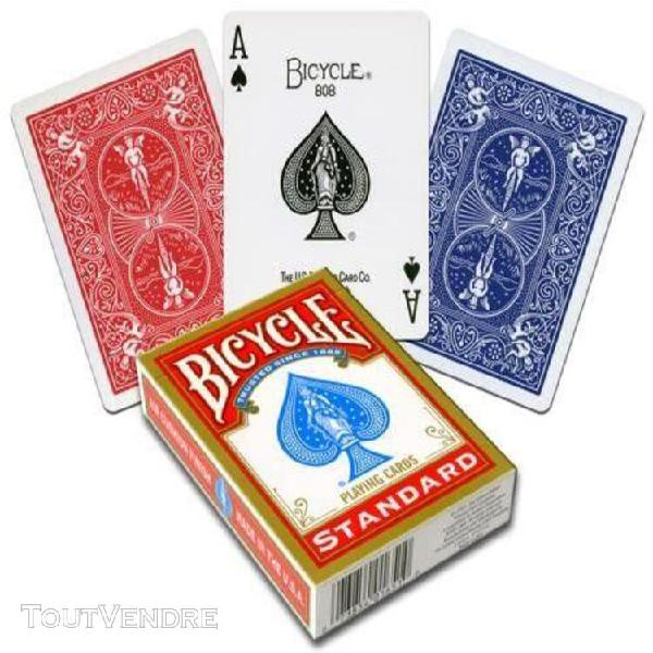 Jeu de carte de poker rider back standard bicycle rouge