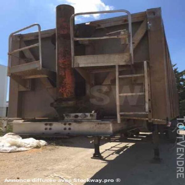 remorque routière benne basculante de chantier et de tp -