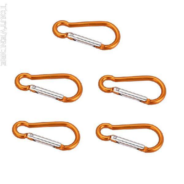 5pcs carabiner clip escaladisme d forme mousqueton À