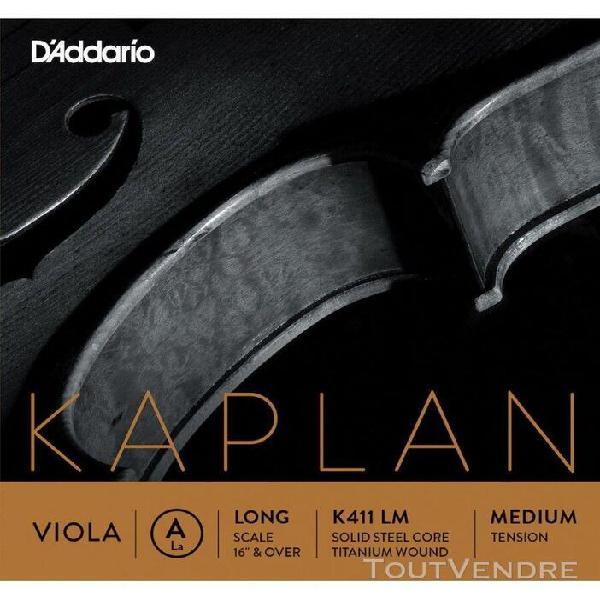 d'addario k411 lm - corde seule (la) alto kaplan, long scale