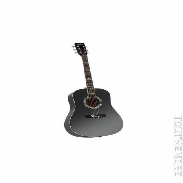 delson montana guitare folk 4/4 - noir