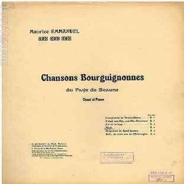 Emmanuel chansons bourguignonnes du pays de beaune noël