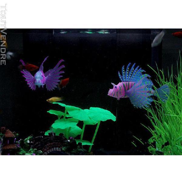 les poissons d'aquarium artificiels silicone lionfish