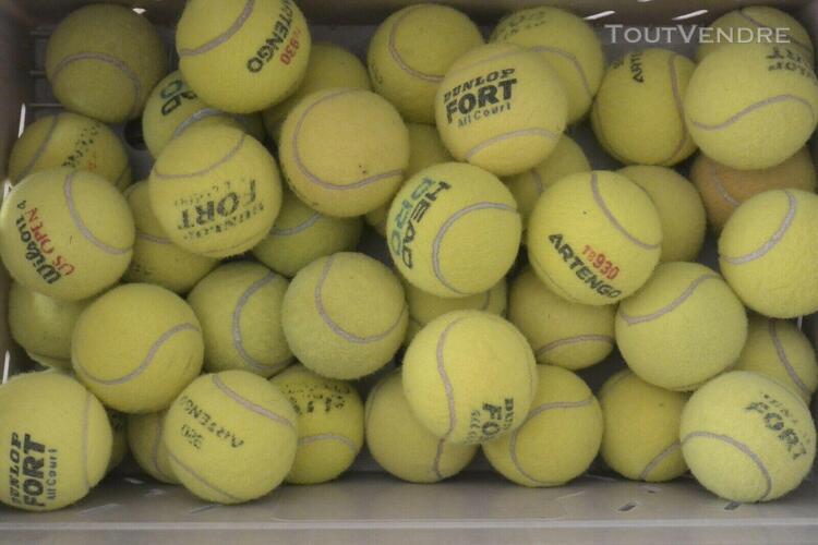 lot de 30 balles de tennis usagées balle d'occasion pour