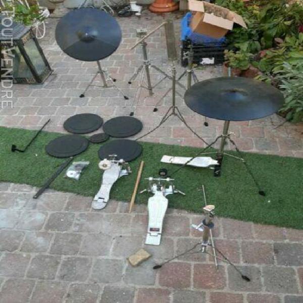 musique batterie entrainement roland cymbales pads tambour p