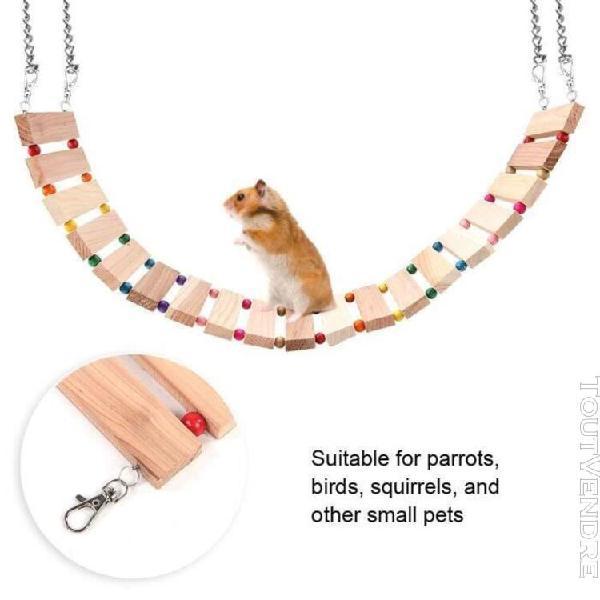 Petit animaux suspendus en bois doux pont jouet écureuil