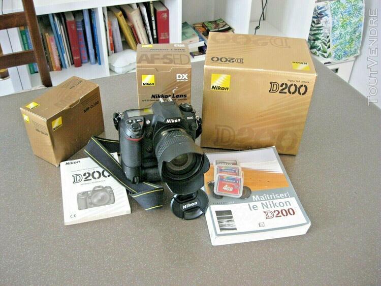 appareil photo numerique nikon d200 et objectif 18/70 nikon