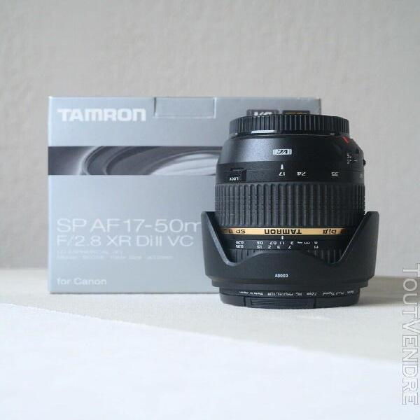 canon eos 70d + fisheye 8mm + 17-50mm f/2.8 stabilisé +