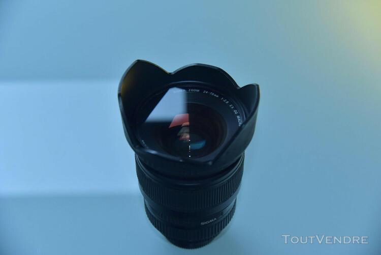 objectif sigma 24-70 mm / 2,8 if ex dg monture pour nikon