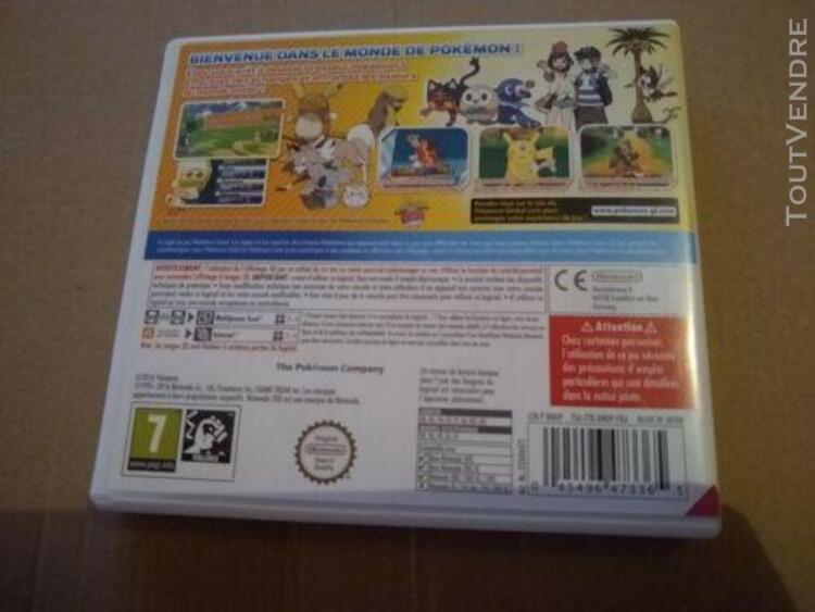 Pokémon soleil nintendo 3ds vf -livraison offert!!