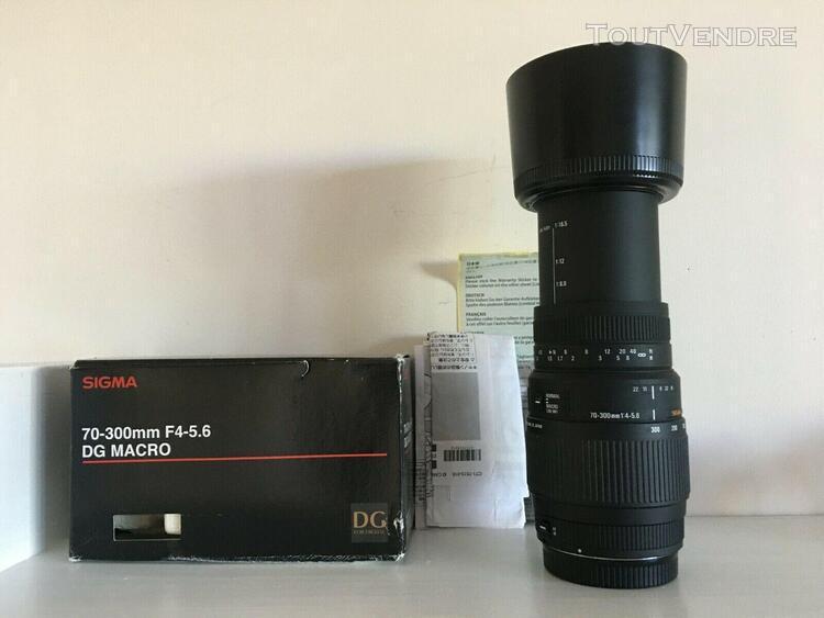 sigma 70-300mm f4-5.6 dg macro monture canon