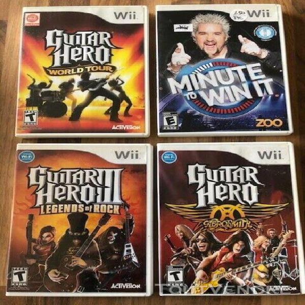 Wii: guitar hero world tour / guitar heroe aerosmith ……