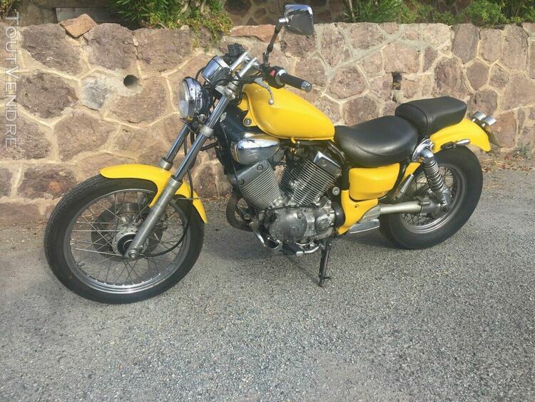 Yamaha virago xv 535 peinture perso jaune