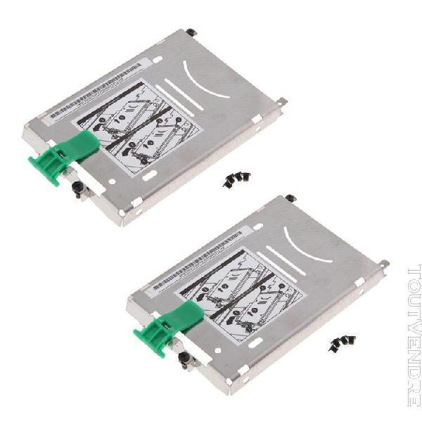 2 pièces adaptateur de disque dur d'ordinateur portable