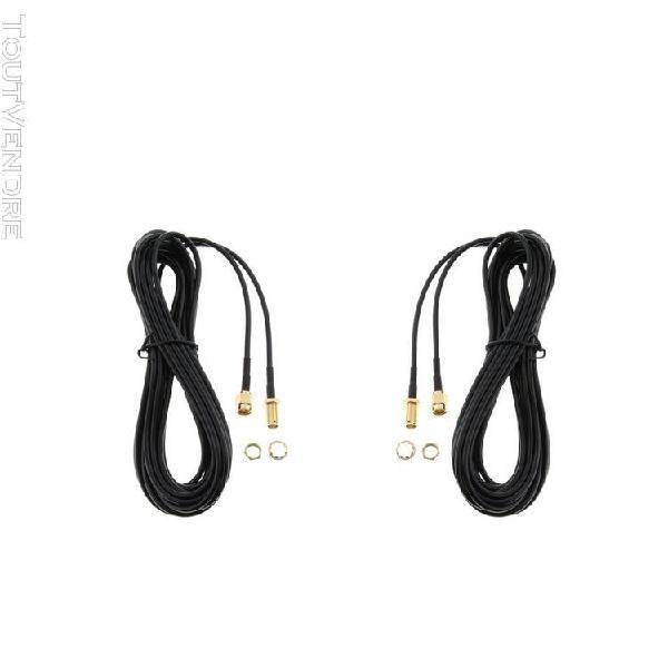 2pcs câble d'extension de connecteur d'antenne mâle à