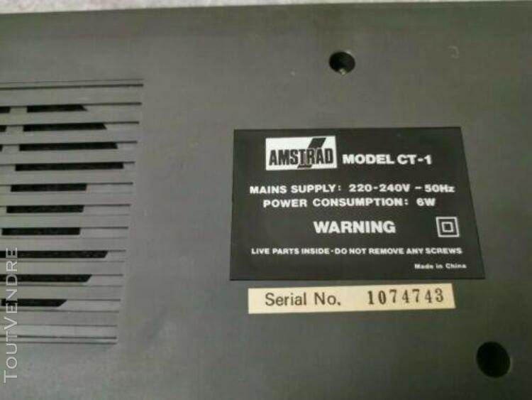 amstrad tuner tv radio clock réveil mp-3 ct-1 pour cpc 464