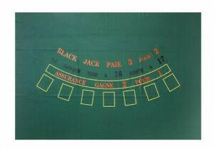 Black jack tapis de jeux de cartes casino neuf - mat,