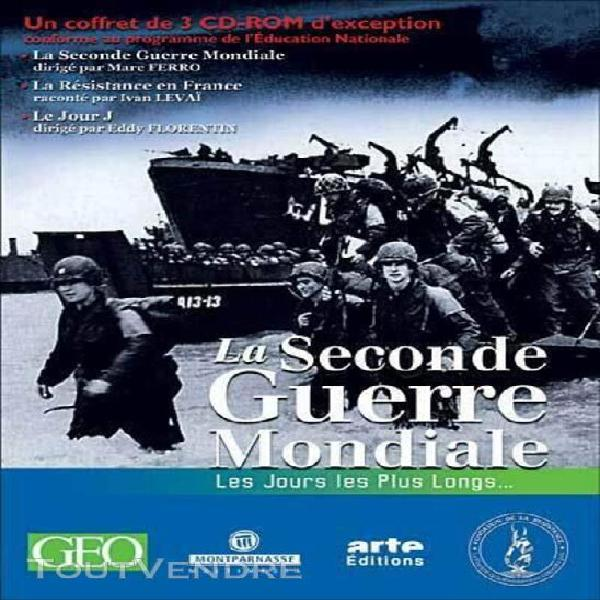 Coffret 3 cd rom seconde guerre mondiale