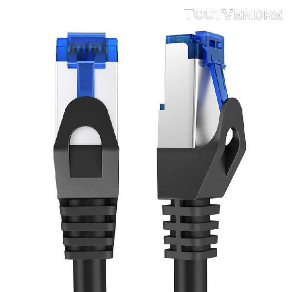 kabeldirekt 10m câble réseau local ethernet (cat6 gigabit,