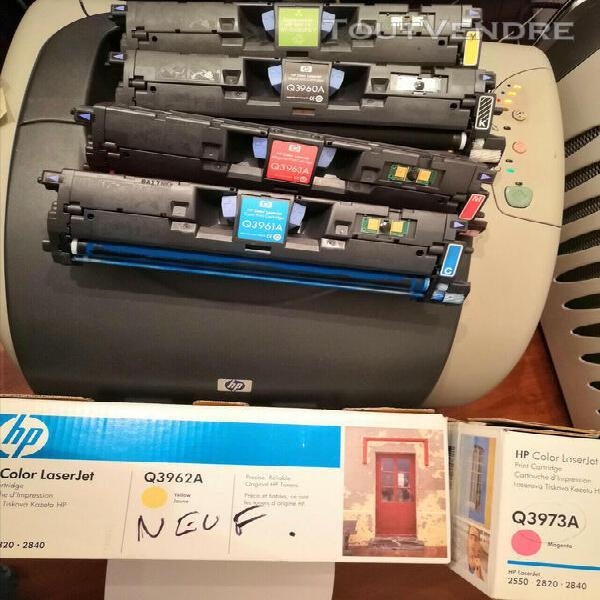 Pack de 6 toners pour hp color laserjet 2550/2820/2840