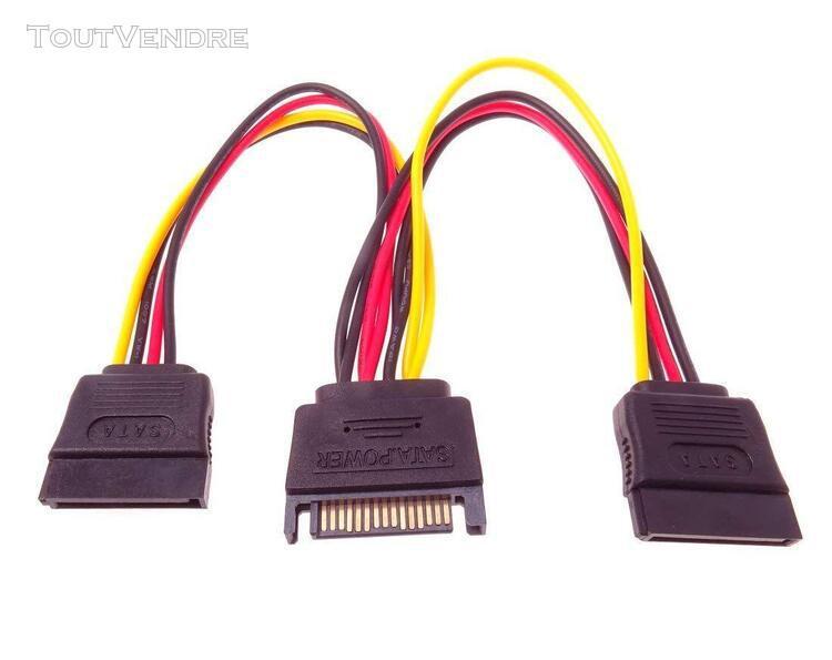 premiumcord câble d'alimentation pour hdd serial ata 2 x f