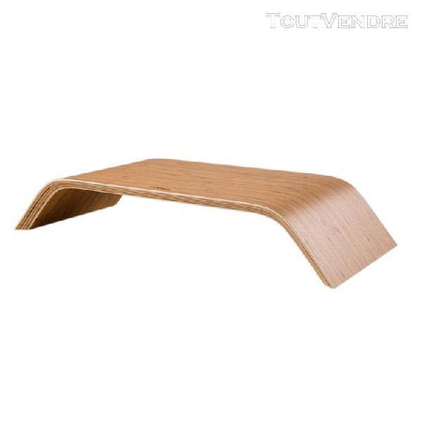 samedi moderne en bois affichage support de bureau pour macb