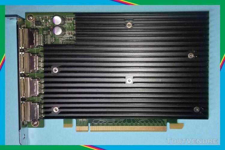 Sold nvidia quadro nvs450 g98 pci-ex16 256 mb 4 x ports vid