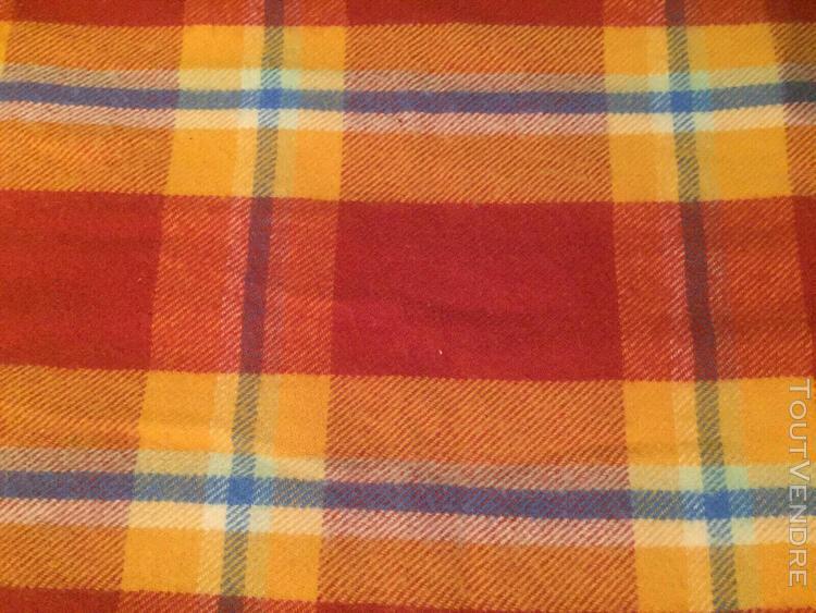 belle couverture pure laine vierge ecossais fabriquée en