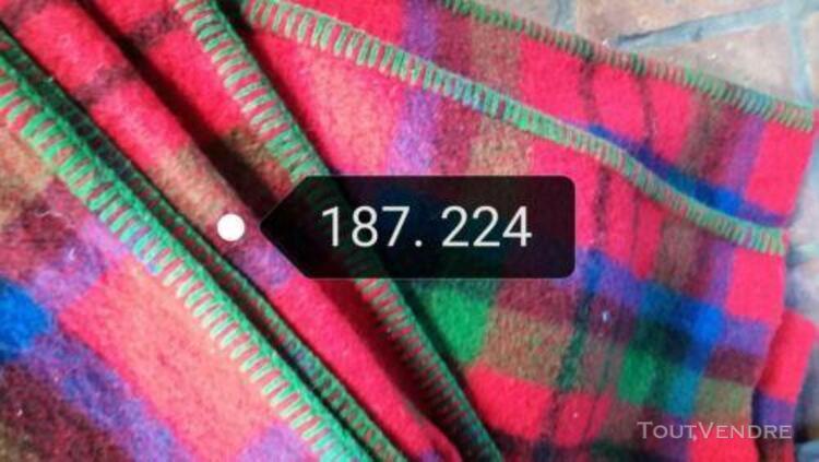 Couverture plaid écossais 187 cm x 224 cm marque bélier