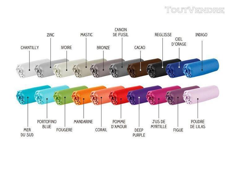 drap housse - 160 x 200 cm - 100% coton - différents