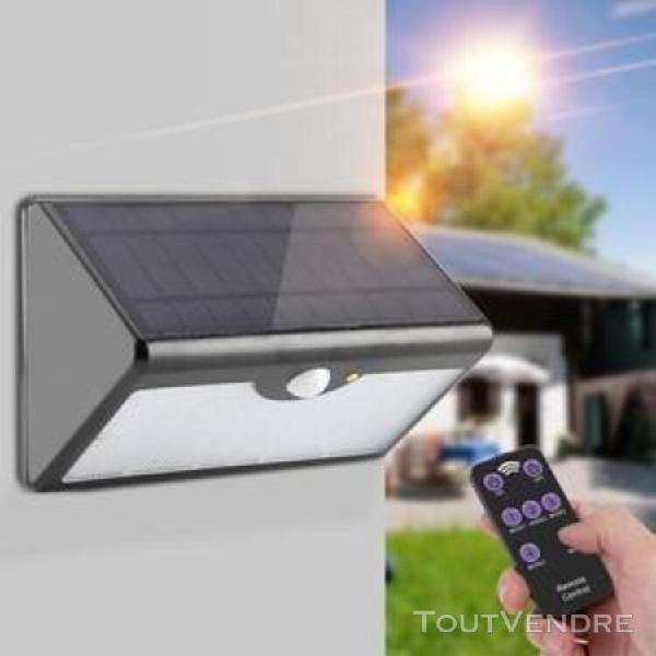 lampe murale extérieure solaire 60led pir capteur de
