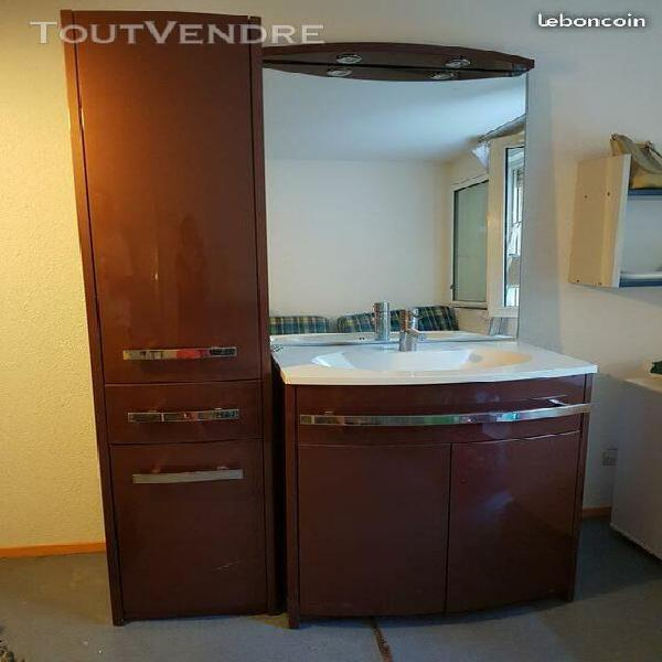 Meuble salle de bain + colonne + vasque