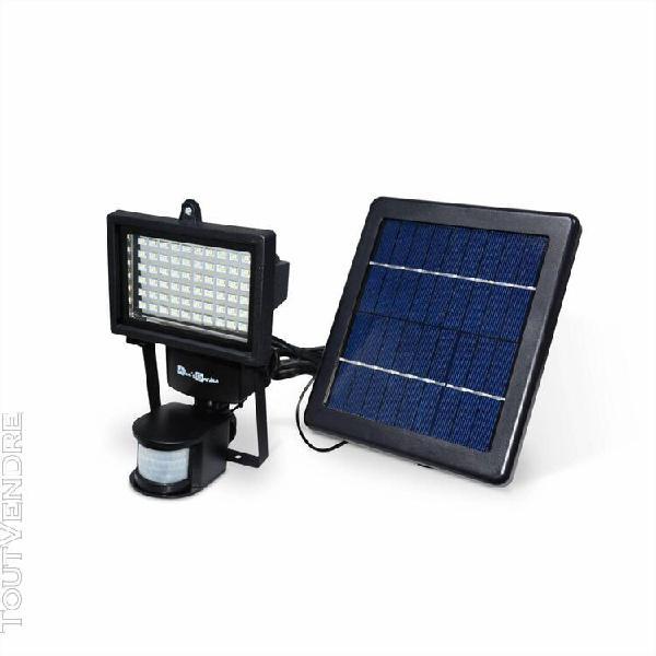 projecteur 60 led solaire 420 lumens, blanc chaud À