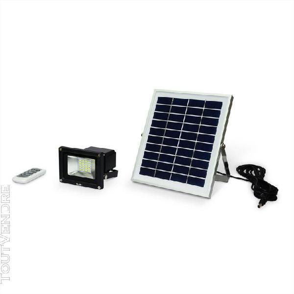 projecteur led 10w avec panneau solaire télécommandé