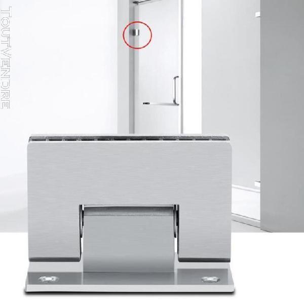 support sans cadre charnière murale pour porte de douche en